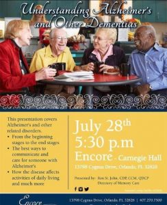 meeting for alz on 7.28